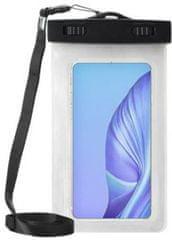 Vrečka za telefon, vodotesna, XXL, 16,51 cm, bela