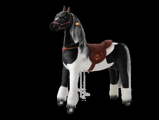 Ponnie Jeżdżący mechaniczny koń Domino XL profi