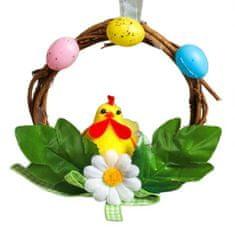 Kraftika Velikonoční dekorace - věnec s kuřátkem