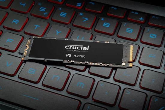 Crucial P5 SSD disk, 250 GB, M.2 2280 PCIe NVMe