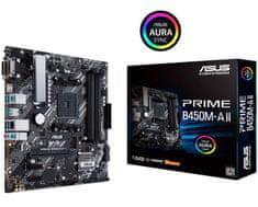 Asus Prime B450M-A II osnovna plošča, AM4, DDR4, mATX