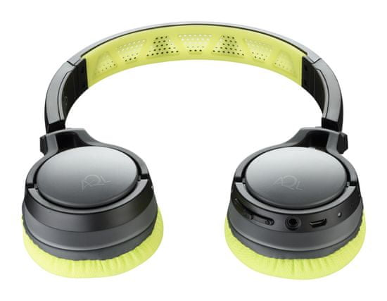 CellularLine Bezdrôtové slúchadlá CHALLENGE s prateľnými náušníkmi, žltá, BTHEADBCHALLENGEL