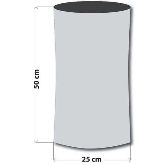 Sulov ovratnik-tuba, siva/karirana
