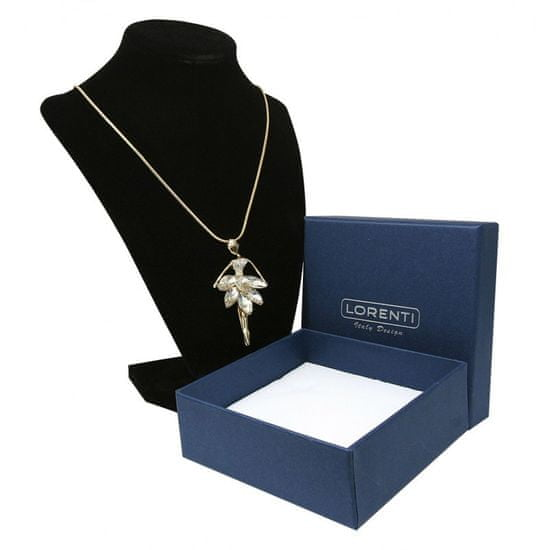 Lorenti Dámský náhrdelník Baletka s kamínky, zlatá