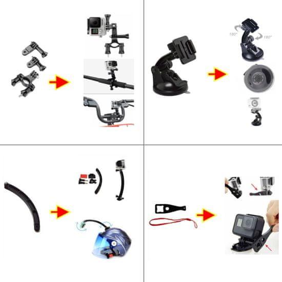 FORCELL 49v1 set príslušenstva pre akčné kamery