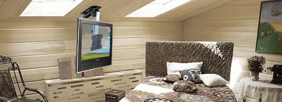 Lechpol Držák TV na šikmý strop Brateck LCD-CM222