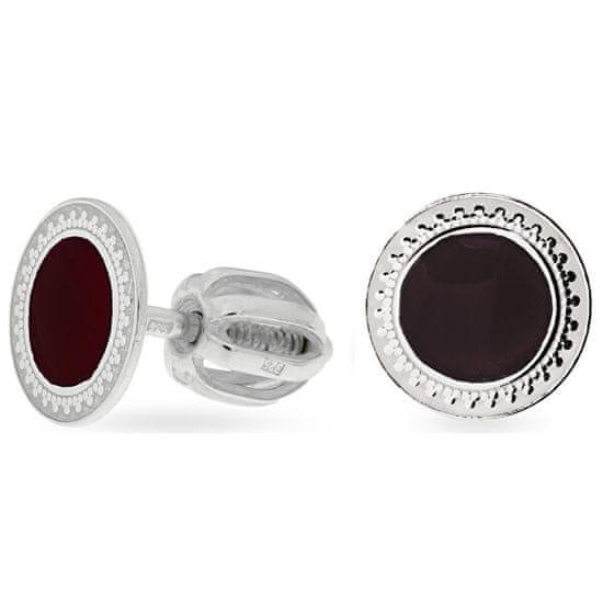 Praqia Apró ezüst fülbevaló fekete középpel NA5333_RH