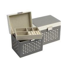 Jan KOS Siva škatla za nakit z vzorcem SP-1855 / A3 / AG