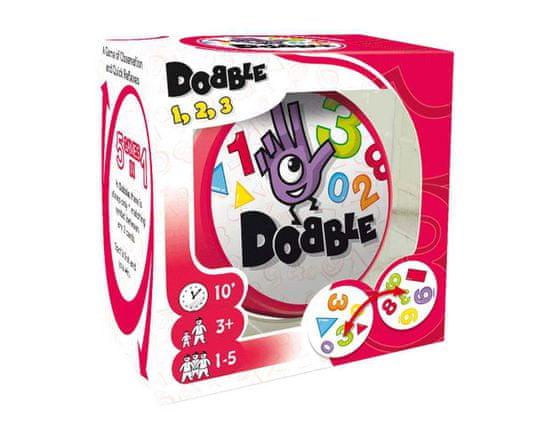 Zygomatic družabna igra Dobble 1, 2, 3 angleška izdaja