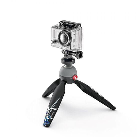 Manfrotto PIXI MINI namizno stojalo z nosilcem za akcijske kamere črn (MKPIXIEX-BK)
