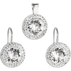 Evolution Group Sada á la Kate Middleton 39107.1 krystal (náušnice, přívěsek) stříbro 925/1000