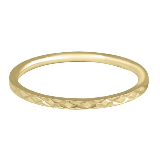 Troli Aranyozott minimalista acél gyűrű gyengéd mintával Gold