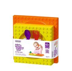 PLACEMATIX Jídelní sada pro děti (hluboký talíř-miska, mělký talíř, příbor)