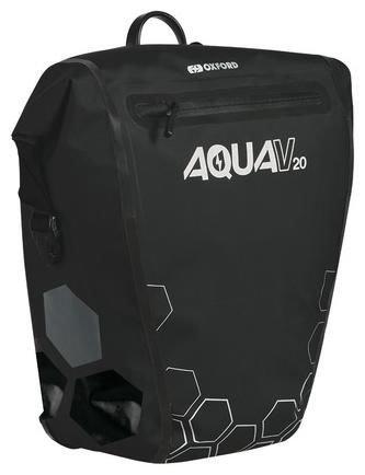 Oxford boční brašna AQUA V20 QR, OXFORD (černá, s rychloupínacím systémem, objem 20l, 1ks) OL942