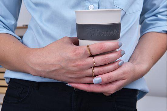 Troli Modern csavart rózsaszínű aranyozott gyűrű