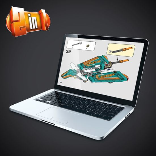 LEGO Technic 42117 Dirkalno letalo - Odprta embalaža