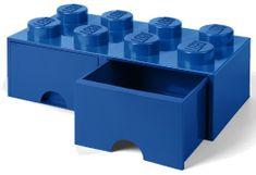 LEGO škatla za shranjevanje kock z 8 predali, modra
