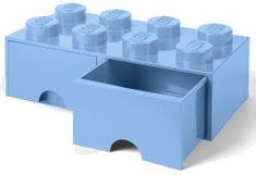 LEGO Úložný box 8 s šuplíky světle modrá