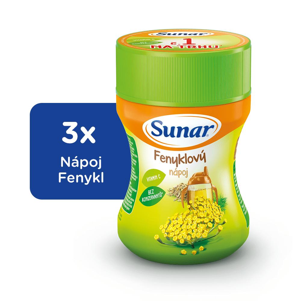 Sunar Rozpustný nápoj fenyklový 3x200g