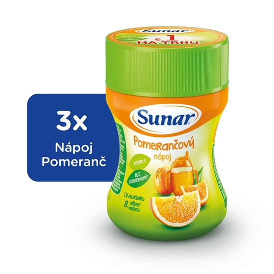 Sunar rozpustný nápoj pomerančový 3x200g