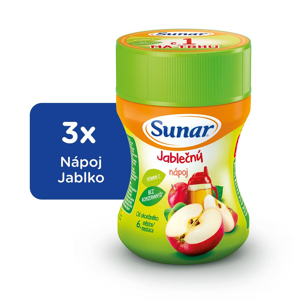 Sunar rozpustný nápoj jablkový 3x200g