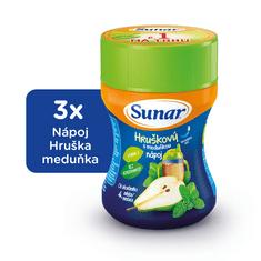 Sunar rozpustný nápoj hruškový s meduňkou 3 × 200 g