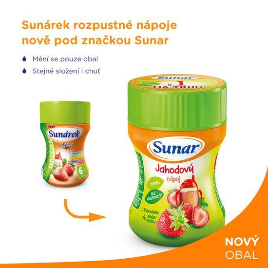 Sunar rozpustný nápoj jahodový (3x200g)