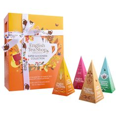 English Tea Shop Dárková kolekce Super goodness oranžová BIO 12 pyramidek