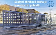 FL brány samonosná posuvná brána 4m průjezd