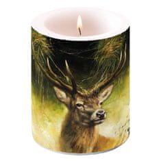 AKAH Svíčka s mysliveckým motivem jelena