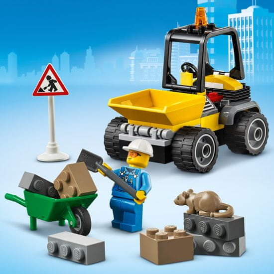 LEGO zestaw City Great Vehicles 60284 Pojazd do robót drogowych