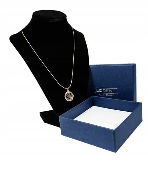 Lorenti Dámský náhrdelník Loretni kytička, zlatý
