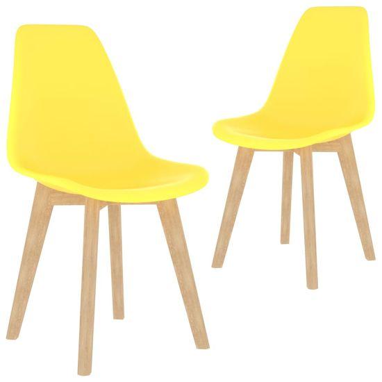 shumee 3-częściowy zestaw mebli jadalnianych, żółty