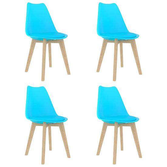 shumee 5-częściowy zestaw mebli jadalnianych, niebieski