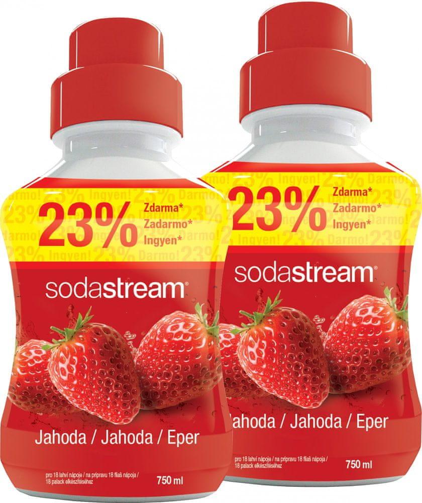 SodaStream SADA SHOP PŘÍCHUŤ 2x750ML JAHODA