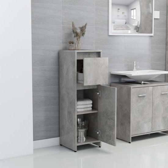 shumee 3 részes betonszürke forgácslap fürdőszobai bútorszett