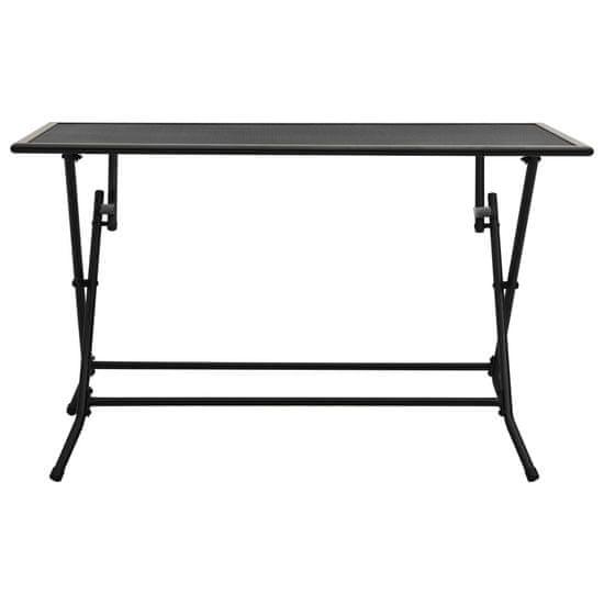 shumee Zložljiva mrežasta miza 120x60x72 cm jeklo antracitna
