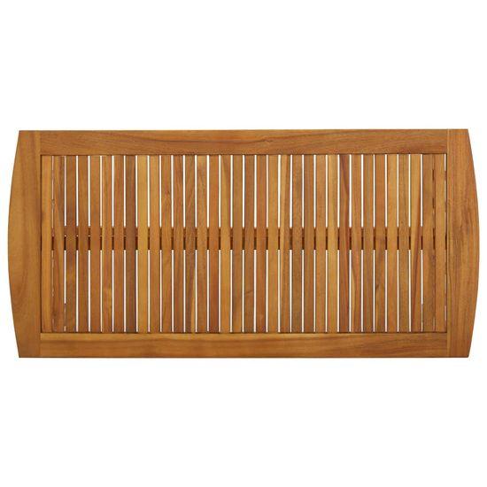 shumee Stolik kawowy, 102x50x43 cm, lite drewno akacjowe