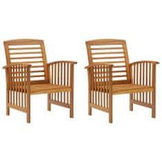shumee Vrtni stoli 2 kosa trden akacijev les