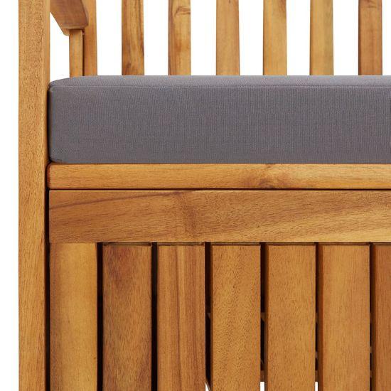shumee Ławka ogrodowa ze schowkiem i poduszką, 170 cm, drewno akacjowe