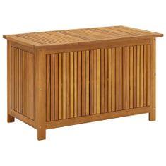 shumee Zahradní úložný box 90 x 50 x 106 cm masivní akáciové dřevo