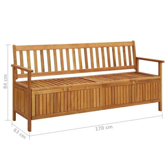 shumee Záhradná úložná lavica 170 cm, akáciový masív