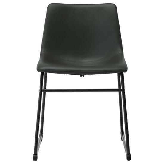 shumee Jedilni stoli 4 kosi sivo umetno usnje