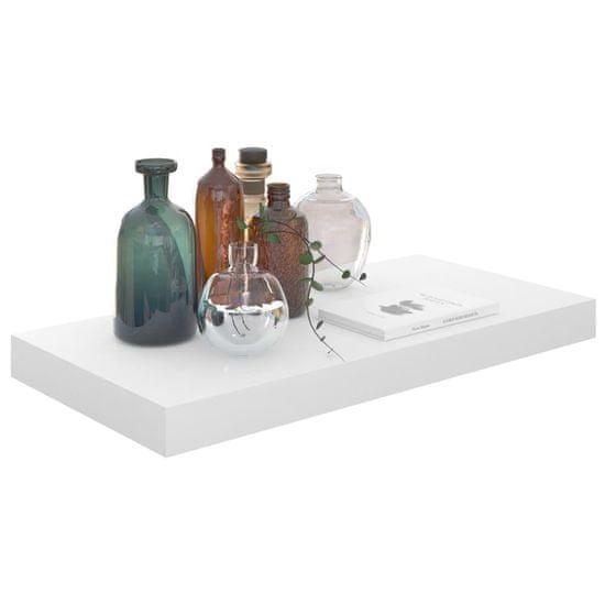 shumee magasfényű fehér MDF fali polc 50 x 23 x 3,8 cm
