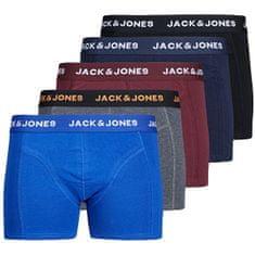 Jack&Jones 5 PACK - moški bokserji 12167028 Blazer Black Navy - Port royal - DGM - Brskaj po spletu (Velikost S)