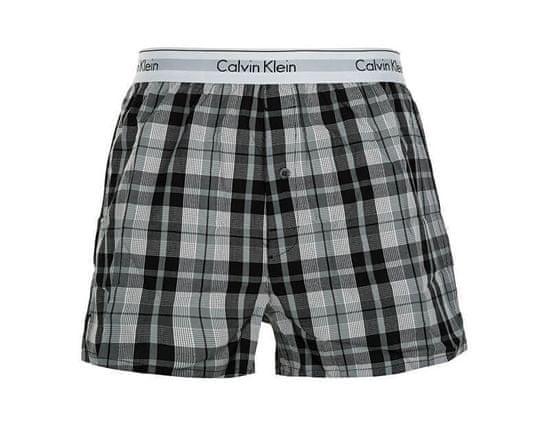 Calvin Klein 2 PACK - moške kratke hlače NB1396A -JKZ Ryan Stripe Deep Well / Hickory Plaid Black