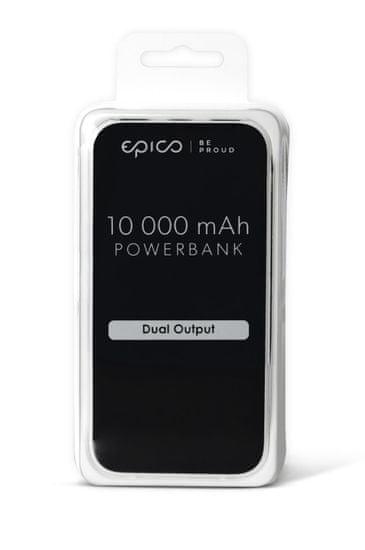 EPICO Power Bank, 10.000 mAh, siva
