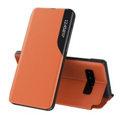 MG Eco Leather View knjižni ovitek za Xiaomi Redmi 9A, oranžna