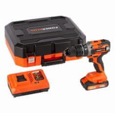 PowerPlus POWDP15210 - Aku skrutkovač / vŕtačka s príklepom 20V SET