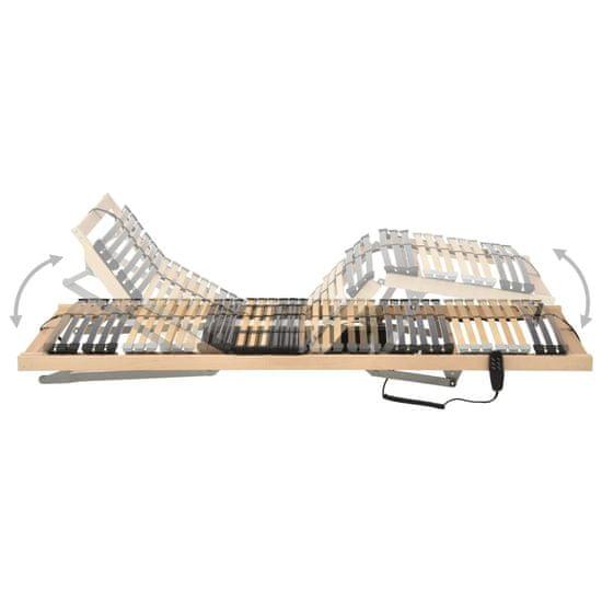 shumee Električno letveno posteljno dno 42 letvic 7 con 100x200 cm